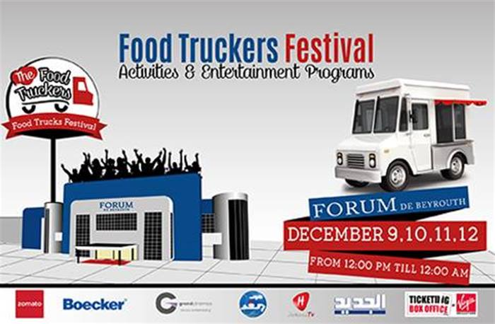 Join The Food Truckers at Forum de Beyrouth on Dec  9-12 and