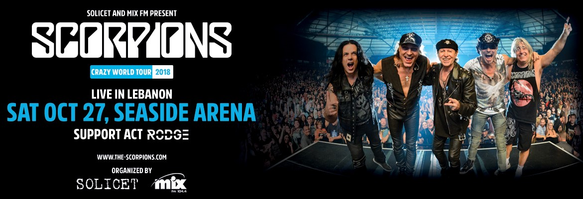 Scorpions live in Beirut with their new Show the Crazy world Tour