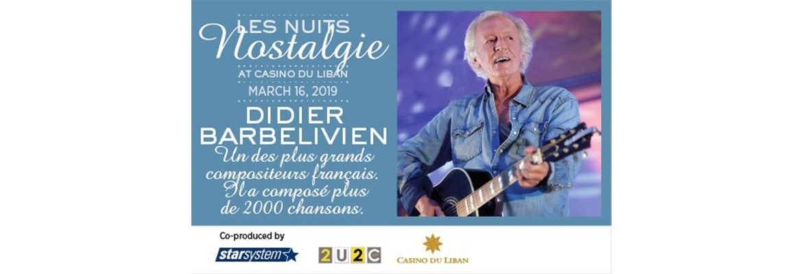 The 2000 Songs composer Didier Barbelivien will perform for