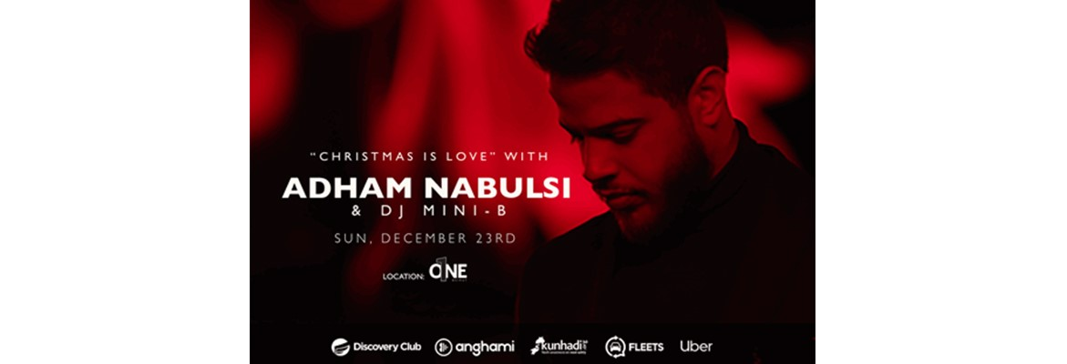"""Discovery Club Presents """"Christmas Is Love"""" with Adham Nabulsi   DJ Mini-B  on 23 December at One Beirut... Tickets available now! 937bf5f48"""
