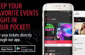 Choose your event, select your seats, and buy your tickets through this cool mobile app