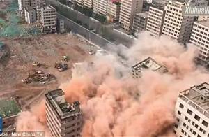 Video: China demolishes dozens of tower blocks in just 20 seconds