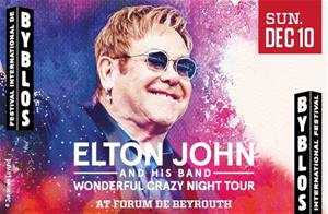 December is coming sooner than you think.. Elton John at Byblos International Festival!