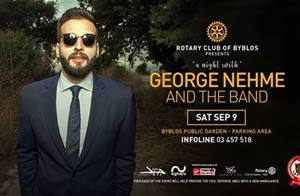 A Night With George Nehme and the band on Sept 9 at Byblos Public Garden