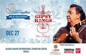 Join Gipsy Kings for an unforgettable night at Rachid Karameh Stadium on December 27
