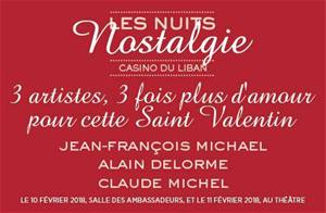 Join Claude Michel for a romantic night at Casino du Liban from Feb. 10 till Feb. 11