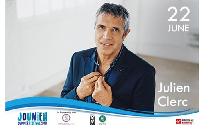 Julien Clerc will be in Jounieh Summer Festival on 22 June to perform all of his greatest hits! Get your tickets!