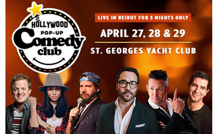 Hollywood Pop Up Comedy Club: 6 A-list stand-up comedians will take the stage in Beirut... Get your tickets now!