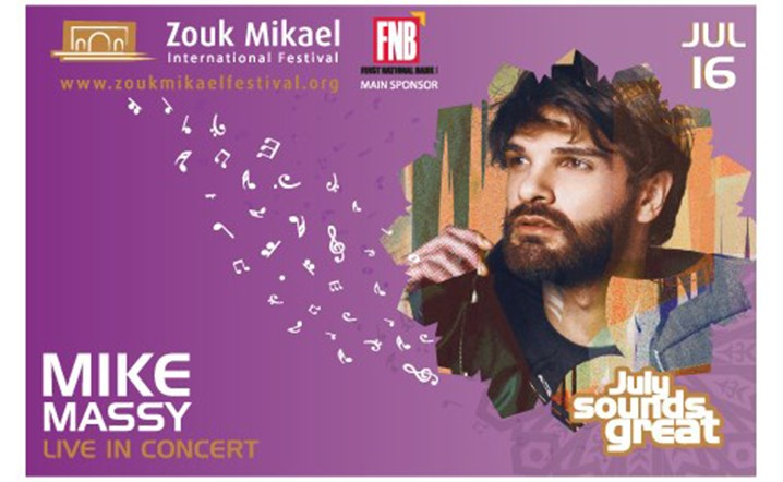 Mike Massy live at Zouk Mikael International Festival on 16 July... Tickets on sale!