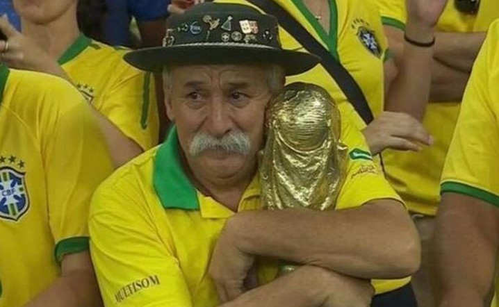 Brazil's most famous superfan will never be forgotten!
