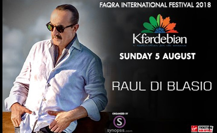 Raul Di Blasio will be performing live at Faqra Kfardebian International Festival on 5 August
