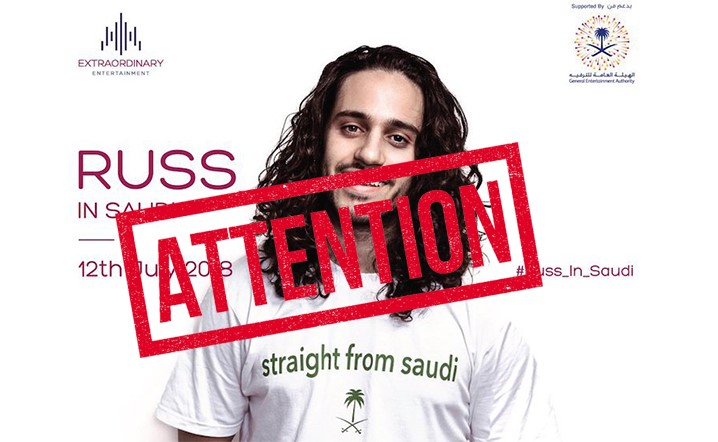 Very Important Announcement Concerning Russ Concert in Saudi Arabia