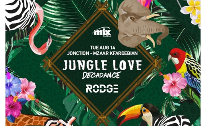 "Mix FM brings you ""Jungle Love"", the largest Assumption night party in Lebanon!"