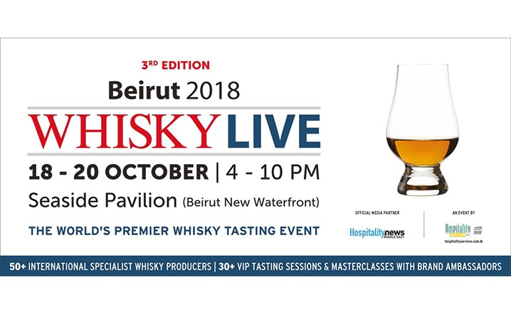 Whisky Live, the unmissable event for whisky enthusiasts, returns to Beirut from 18-20 October