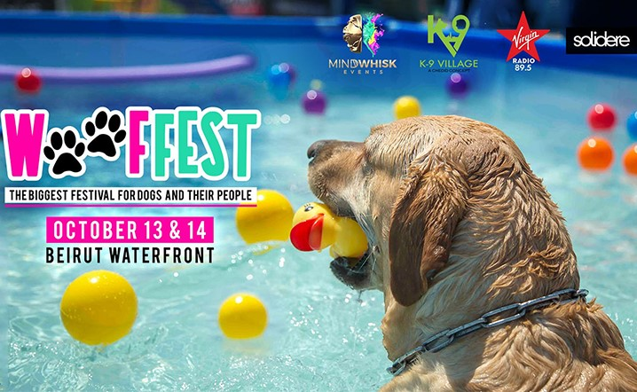 Join us to celebrate your love of dogs at Wooffest Festival on October 13-14 at Beirut Waterfront!