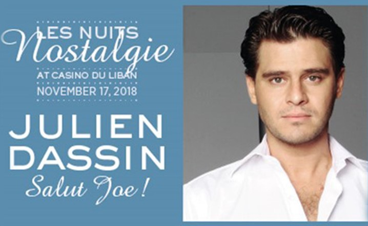 Julien Dassi will be performing live at Casino Du Liban on 17 November... Book your tickets now!