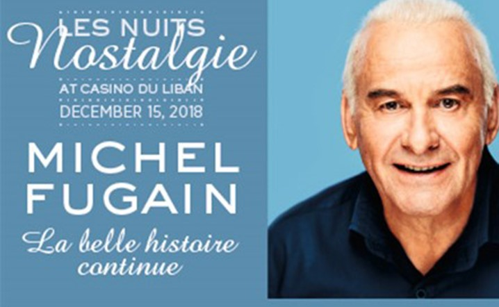 Michel Fugain in concert at Casino Du Liban on 15 December... Book your tickets now!