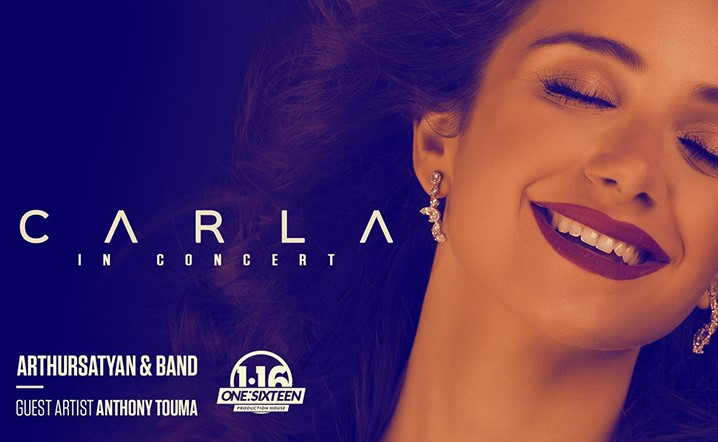 CARLA in concert at The Palace, Aresco Center on 29 September… Grab your tickets now!