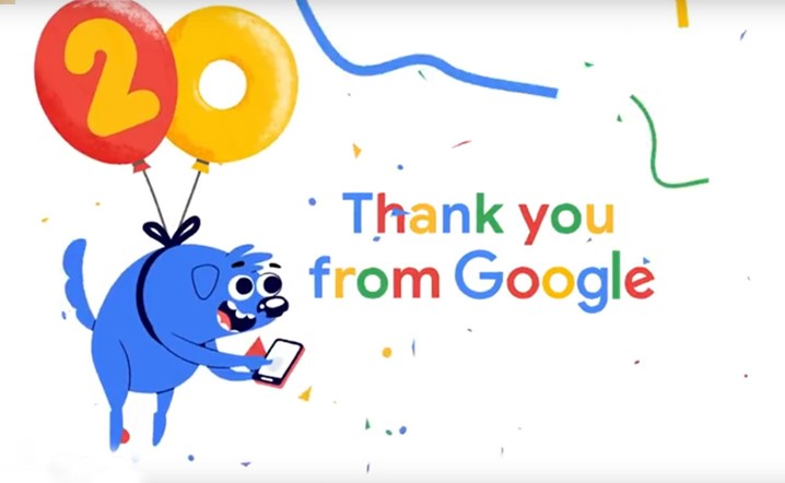 Google is now 20 years old!