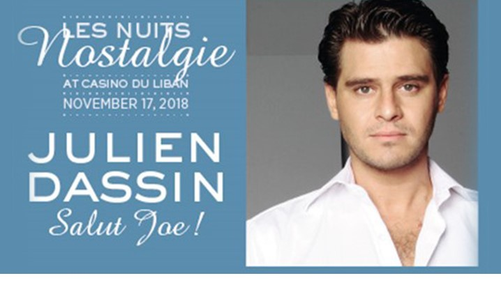 Julien Dassin will be performing live at Casino Du Liban on 17 November. Book your tickets now!