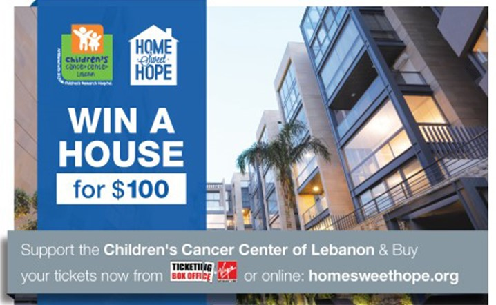 Win a house for 100$ with Home Sweet Hope to support CCCL children!