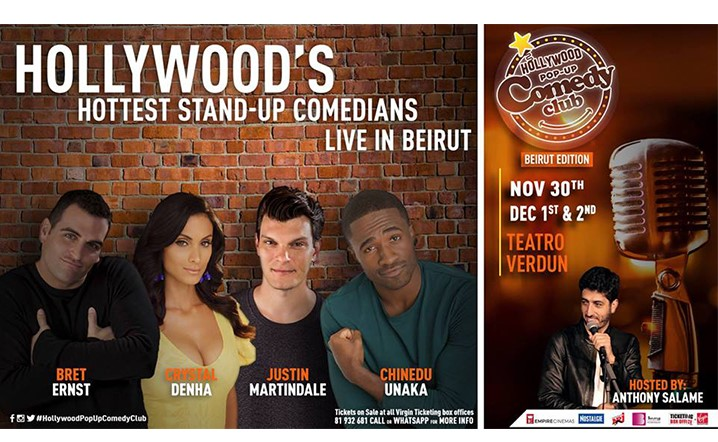 Beirut are you ready&aelig, Four of the funniest stand-up comedians from LA are on their way! Tickets on sale!