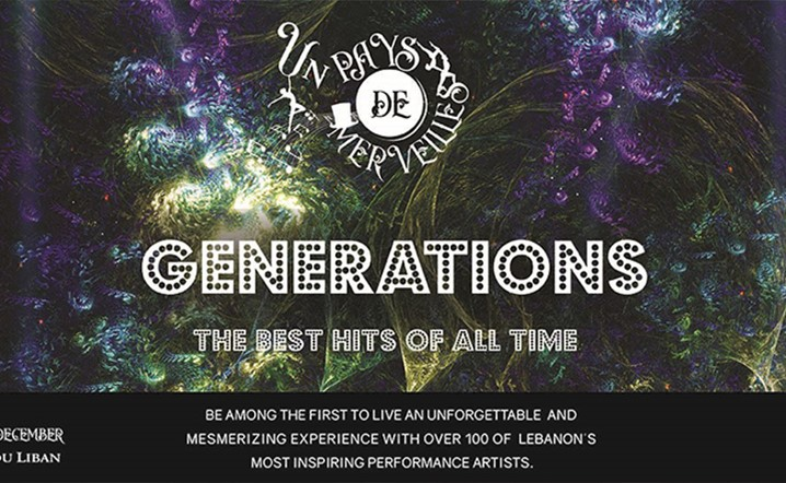 GENERATIONS - The best hits of all time on December 8 & 9 at Casino du Liban! Tickets on sale!