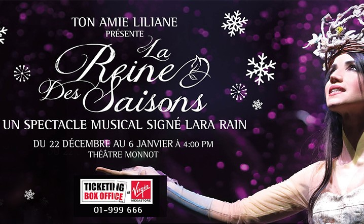 A magical white Christmas at Monnot Theater from Jan 4 till Jan 6... Grab your tickets now!