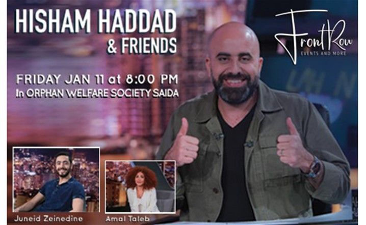 Hisham Haddad & Friends will be heading to Saida on Friday January 11, 2019... Tickets on sale!