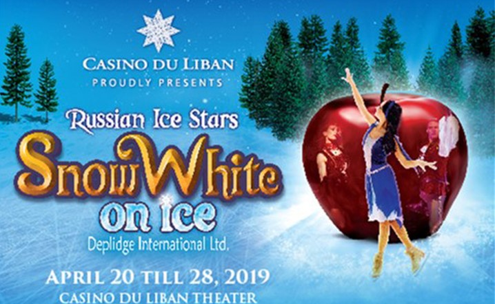 Don't miss this international spectacular Snow white on Ice From 20-28 April at Casino Du Liban! Get your tickets now!