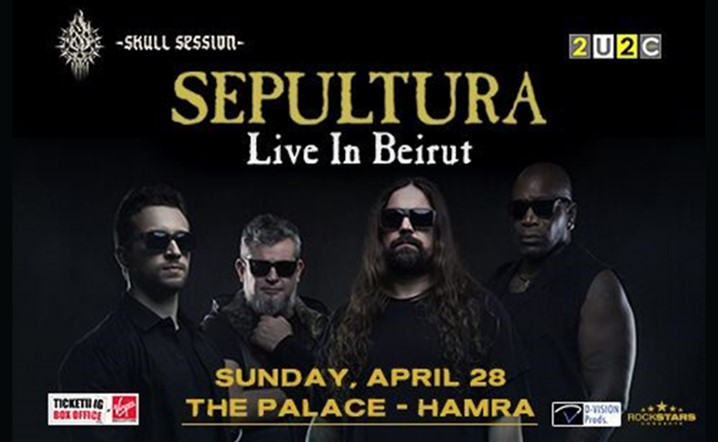 Sepultura Live in Beirut on Sunday, 28 April, 2019 at The Palace - Hamra... Tickets available now!