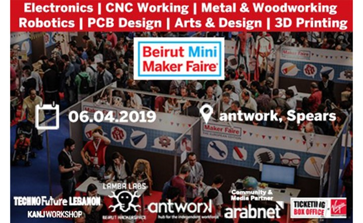 Beirut Mini Maker Faire on Saturday, 06 April, 2019 at Antwork Hall B... Grab your tickets!