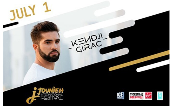Kendji Girac will be performing at Jounieh International Festival on 01 July... Grab your tickets now!