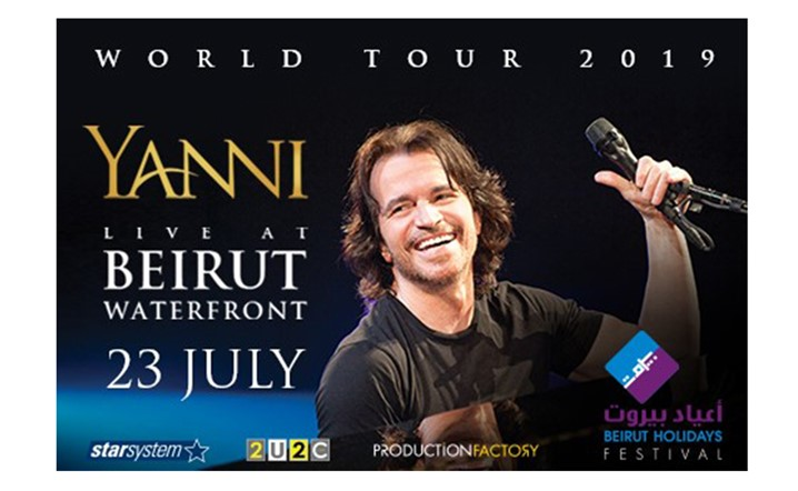 The legendary YANNI performing his timeless masterpieces live on stage on July 23 2019 at Beirut Waterfront