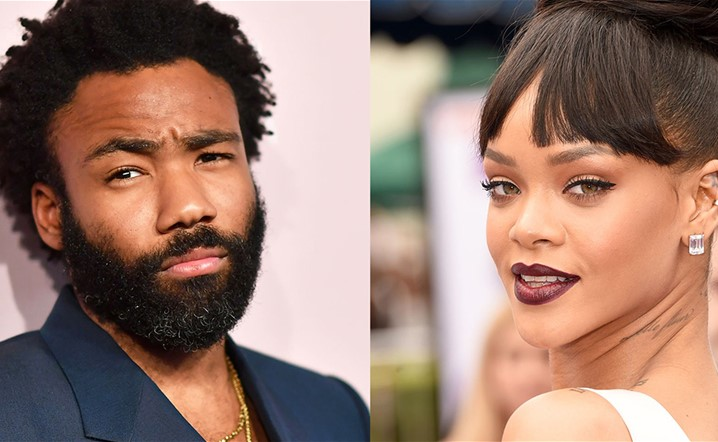 What is the secret project that brings together Rihanna and Donald Gloveræ