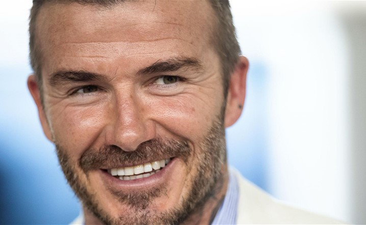 That's how David Beckham looked 21 years ago