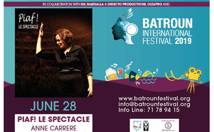 Make sure to catch Piaf! The Show live in Batroun Festival on 28 June... Get your tickets now!