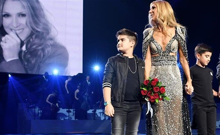 Celine Dion pays an emotional tribute to late husband Angélil at Las Vegas