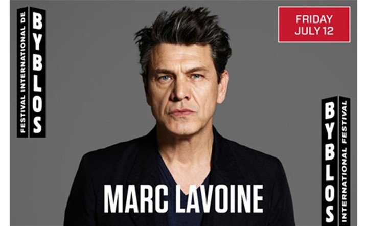 Marc Lavoine will be performing live at Byblos International Festival on 12 July... Get your tickets now!