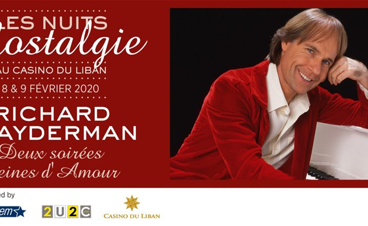 Richard Clayderman will be performing live at Casino du Liban on 8-9 February 2020... Book your tickets!